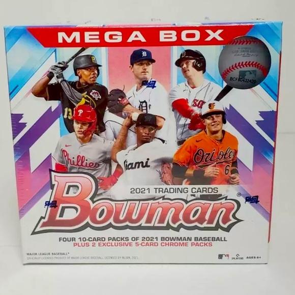 2021 Topps MLB Bowman Baseball Mega Box 50 Cards